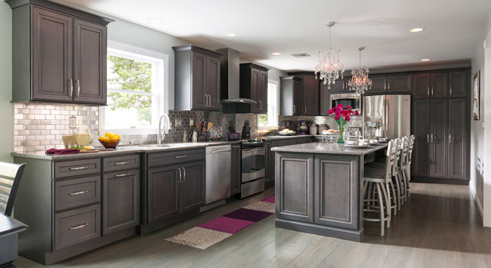 Staining Oak Cabinets Gray Newhairstylesformen2014 Com